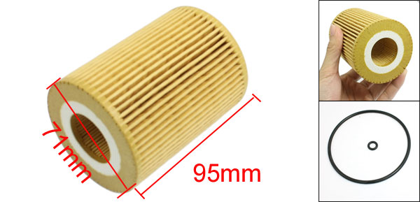 Cartridge Oil Filter w Rubber Seal Ring for Mercedes-Benz E S Class