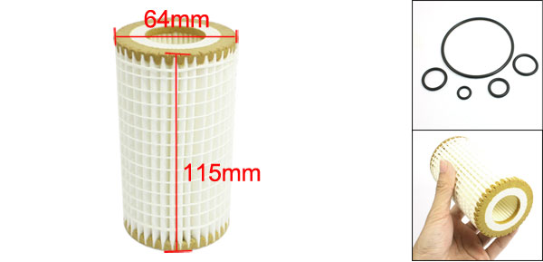 Cartridge Oil Filter w Rubber Seal Ring for Mercedes-Benz W220 320