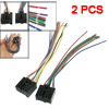 2 Pcs Car Radio Stereo Wire Harness Adapter Female for Chevrolet ...