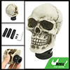 Ivory Color Ceramic Skull Head Shape Gear Shift Knob for Auto Car