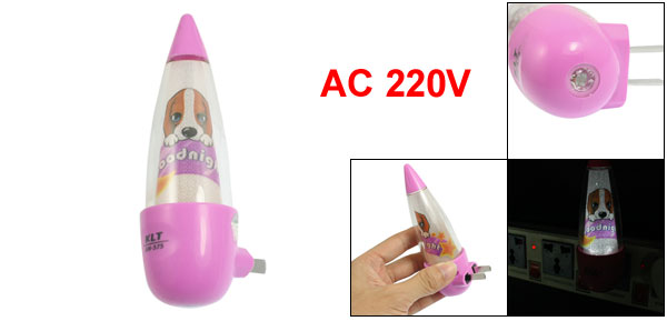 Energy Saving Cone Shape 2 Pin US Plug Mini Night Light AC 220V