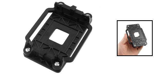Black Replacement AMD CPU Fan Bracket Base for AM2 AM3 Socket