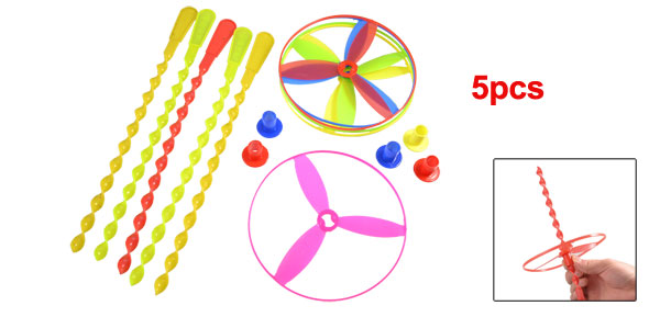 5 Pcs Colored Spinning Shooter Flying Saucer Disc Play Toys for Children