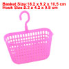 Rectangle Shaped Fuchsia Plastic Kitchen Storage Lattice Hook Bas...