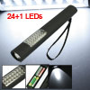 Magnet Back Black Shell White 24+1 LED Flashlight Floodlight