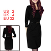 Allegra K Ladies Long Sleeve Scoop Neck Straight Cutting Dress W ...