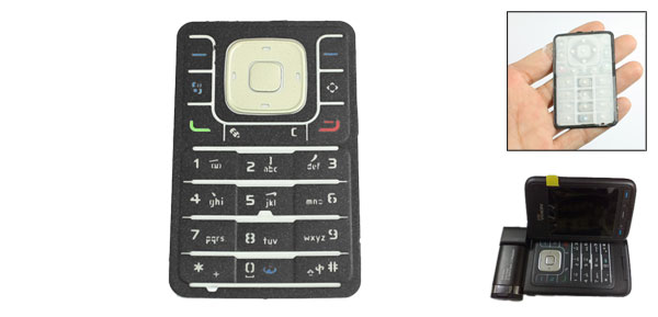 Black Gray Replaceable Repair Part Keyboard Button for Nokia N93I