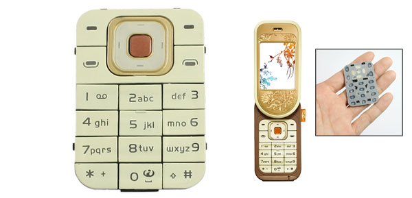 Replacement Repair Part Beige Keyboard Button for Nokia 7370
