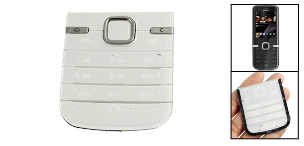 Clear White Function Key Replaceable Keyboard for Nokia 6730