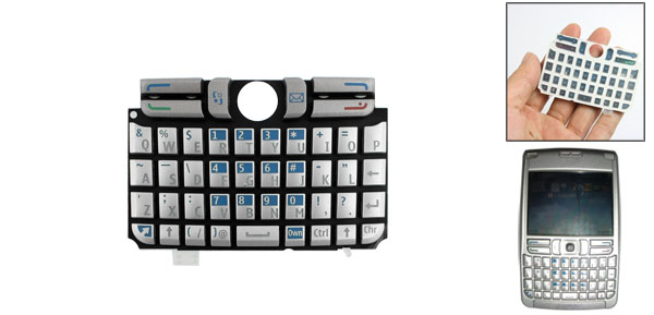 Gray Blue Function Key Cellphone Replaceable Keyboard for Nokia E61
