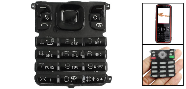 Repair Parts Keypad Keyboard Button Black for Nokia 5630