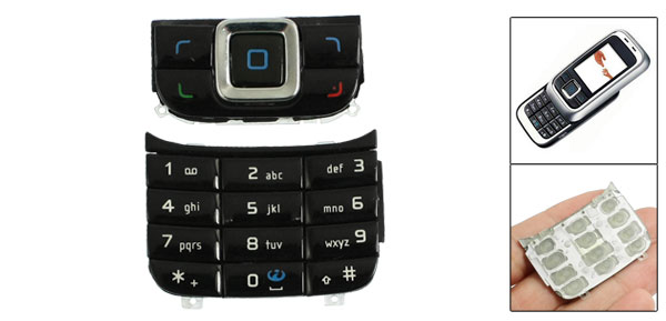 Repair Parts Keypad Keyboard Button Black for Nokia 6111