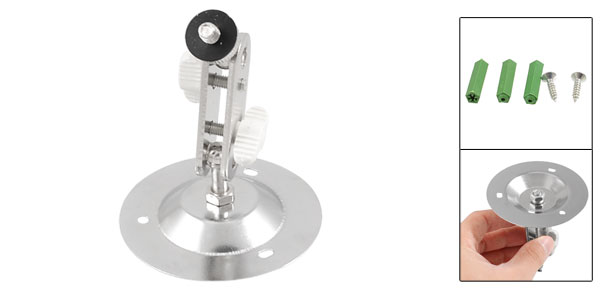 Silver Tone Alloy Surveillance CCTV Dome Camera Bracket Wall Ceiling Stand