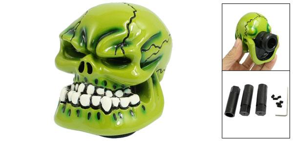 Universal M8/M10/M12 Green Wicked Skull Manual Gear Stick Car Shifter Shift Knob