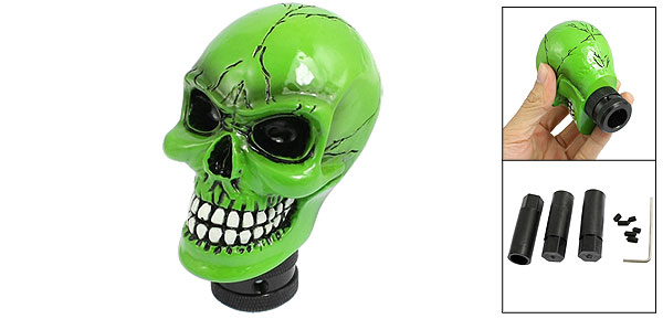 Green Universal Wicked Carved Skull Gear Stick Shift Knob New