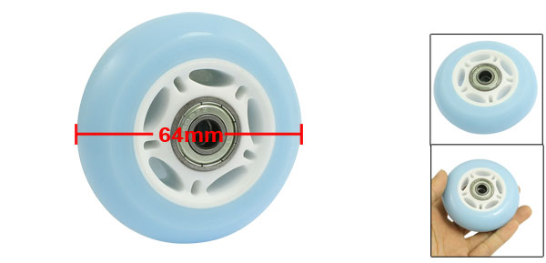 ABEC7 608ZZ Bearing 72mm Diameter Roller Skateboard Wheel Light Blue White