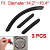 3 Pcs Car Decorative Black Plastic Steering Wheel Cover