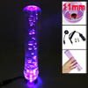 20cm Long Car Auto Clear Purple Bubble Shift Gear Knob w LED Ligh...