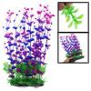 """14.2"""" Height Purple Green Manmade Aquarium Plastic Plant for Fish..."""