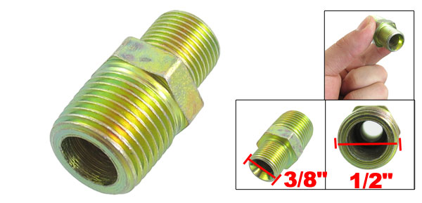 Air Pneumatic Pipe Nipple Male Union Brass Adapter 1/2
