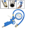 0-220 Psi 0-16 Bar Blue Automobile Car Tyre Pressure Gauge