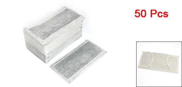 50 Pcs Elastic Ear Loop Dust Disposable Face Masks White Black