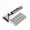 Men Metal Nonslip Handle Manual Shaving Hand Rotation Plane Razor