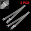 2 Pcs Adjustable Soft Plastic Invisible Clear Bra Shoulder Straps