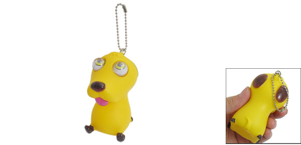 Yellow Cute Dog Eyes Popping Tension Reliever Gadget Decompression Squeeze Toy