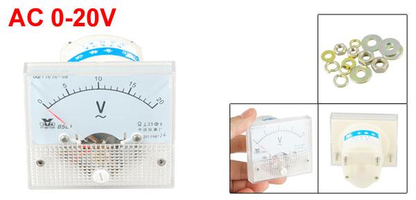 85L1 AC 0-20V Rectangle Analog Panel Volt Meter Voltmeter Gauge