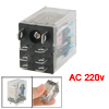 JQX-13F 10A/240VAC 10A/28VDC Contact AC 220V Coil Electromagnetic...