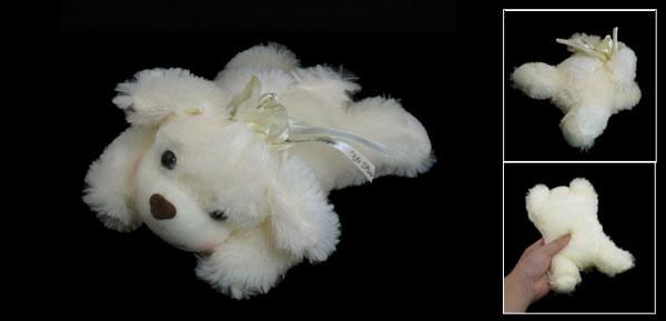 Beige Cute Plush Stuffed Fuzzy Play Tummy Puppy Scented Dog Toy
