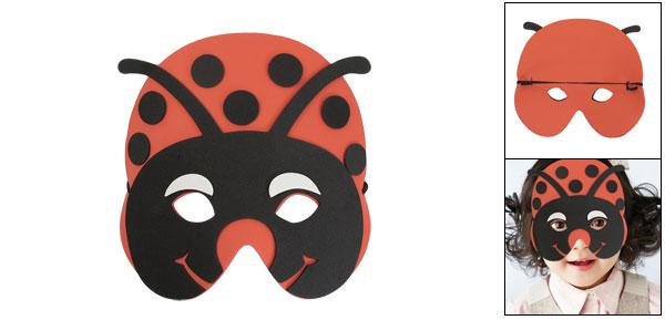 Black Red Foam Ladybug Shape Face Mask for Children