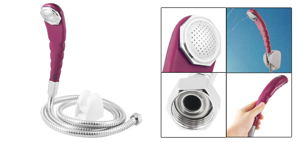 Wall Mounted Round Shower Head w 1.2M Stainless Steel Flexible Hose