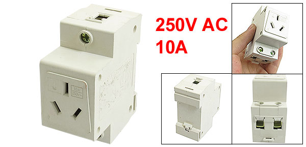 Single Pole 35mm Standard DIN Mount AU Modular Socket 250VAC 10A