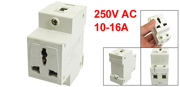 250VAC 10-16A Single Pole 3 Pin Terminals Electric Modular Socket