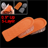 "2 Pcs Orange Flannel Clear Silicone Height Increase Insoles 0.9"" ..."