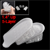 "Pair Removable 5-Layer 1.4"" Up Heel Lift Pad Height Insoles Gray ..."