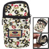 Black Floral Pattern Elastic Wristband 2 Pockets Phone Wrist Bag ...