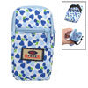 Blue Heart Print Elastic Wristband 2 Slots Mp3 Holder Phone Wrist Bag Pouch