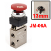 JM-06A 13mm Thread 3/2 Way Red Flat Push Button Pneumatic Mechani...