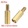 50 Pcs Brass Screw Hexagonal Stand-off Spacer M3 Male x M3 Female...