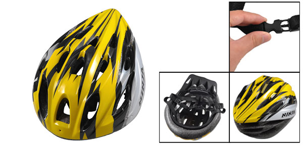 Man Woman Black Yellow Striped Skateboard Bike Bicycle Cycling Helmet