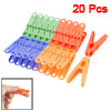 Assorted Color Plastic Laundry Clothes Pins Hanging Clips Hooks 2...