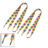 1.7 cm Width Orange Yellow Flat Plastic Tip Canvas Shoelaces