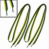 "46.5"" Length Green Yellow Black Striped Plastic Tip Flat Wide Sho..."