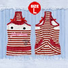 Pet Puppy Dog Clothes Tank Top Dress Skirts Apparel White Red Bowknot Striped L
