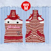 White Red Striped Casual Pet Puppy Dog Clothes Apparel Dress Skir...