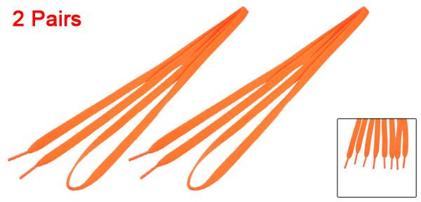 2 Pairs Bright Orange Sport Sneakers Flat Shoe Laces