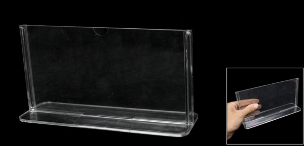 Clear Plastic 17.8 x 10cm Standard Price Menu Display Holder